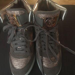 Michael Kors high top wedged sneakers